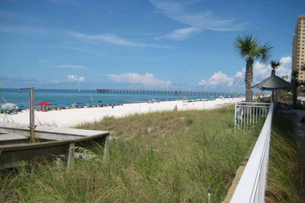 Florida Panhandle Emerald Coast - Panama City Beach Dunes and Ocean