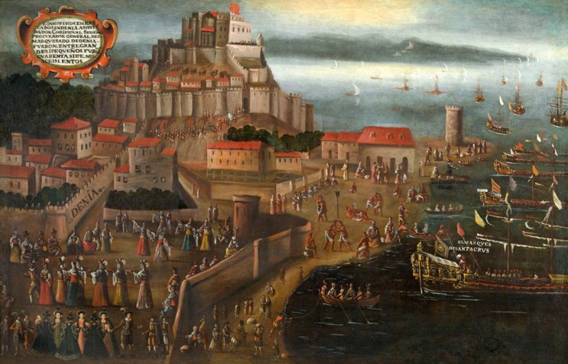 Expulsion of the Moriscos in the Port of Dénia, painting by Vicente Mostre, 1613.