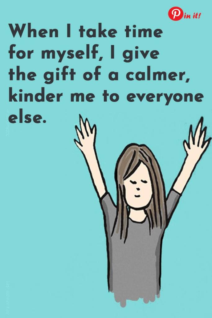 5 habits of a happy mom. When you take time for yourself you give a gift of a calmer kinder you to everyone else. #motherhood #mentalhealth