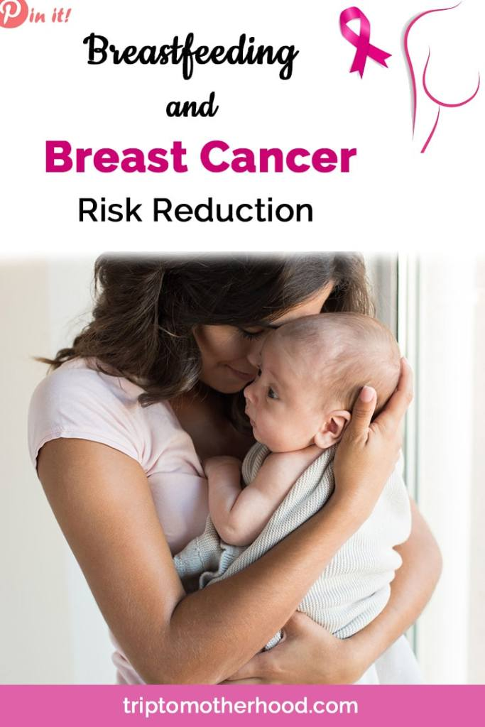 Breastfeeding and Breast Cancer Risk Reduction. Many moms are not aware of the fact that breastfeeding significantly cuts down their risks of developing breast cancer in the future. Read more here. #Breastfeedingbenefits #healthymom #breastcancerawareness #preventbreastcancer