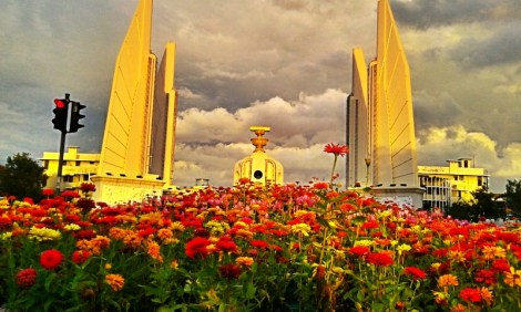 Flowers & Democracy Monument