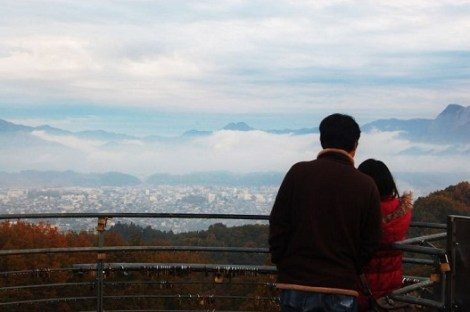 chichibu muse park observaty tower couple