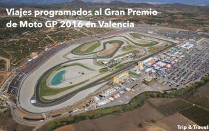 Viajes programados al Gran Premio de Moto GP de Valencia