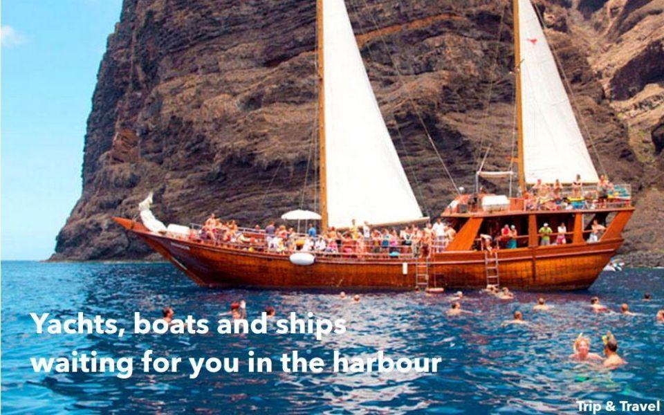 Playa de las Américas: Boat Charter Hire Trips, reservations, restaurants, hotels, events, snorkeling, Tenerife, Canary Islands, sea, scuba diving, cheap, tickets