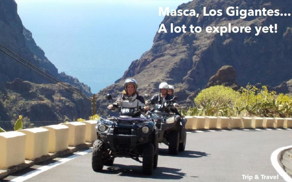 Tenerife Excursions Quad, Canary Islands, Spain, tickets, hotels, reservations, holidays, whales watching, trekking, restaurants, Masca, Los Gigantes, paragliding