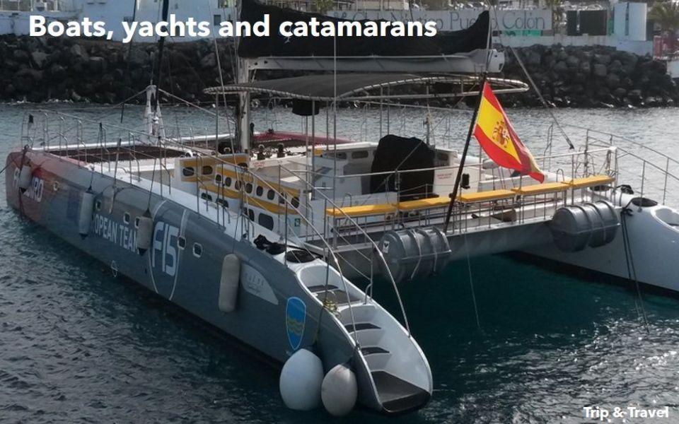 Tenerife Excursions Deals, events, tickets, trips, tours, cheap, hotels, reservations, restaurants, Playa de las Américas, Puerto Colón, yachts, boats, catamarans, Spain
