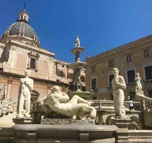 Piazza Pretoria in Palermo Italy