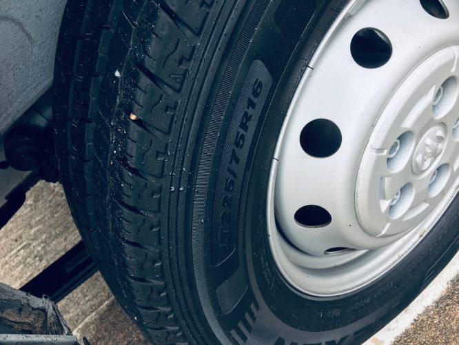stock tires on ram promaster