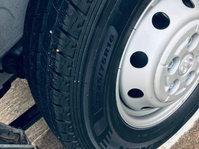 stock tires on ram promaster