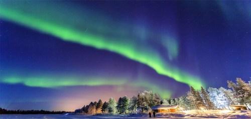 lichtshow in Lapland