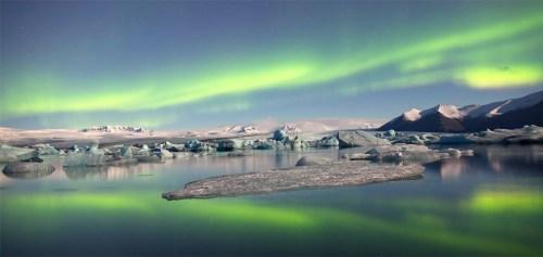 Noorderlicht zichtbaar in Ijsland