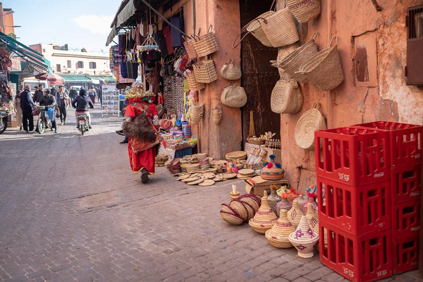 Souks of Marrakesh, Morocco.