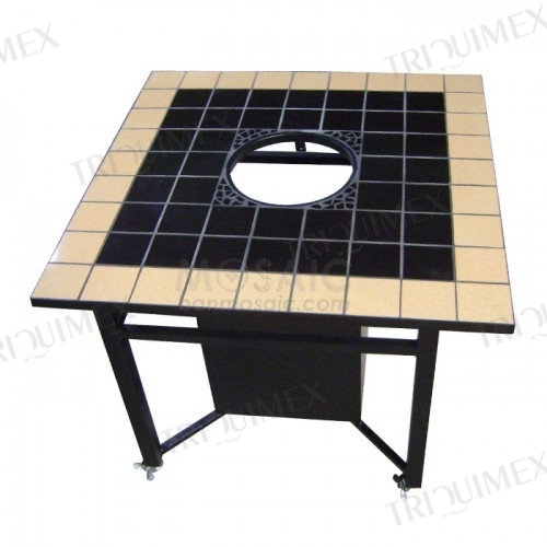 Ceramic Mosaic BBQ Table with Square Table Top