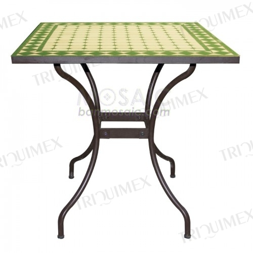 Square Knock-down Mosaic Outdoor Dining Table