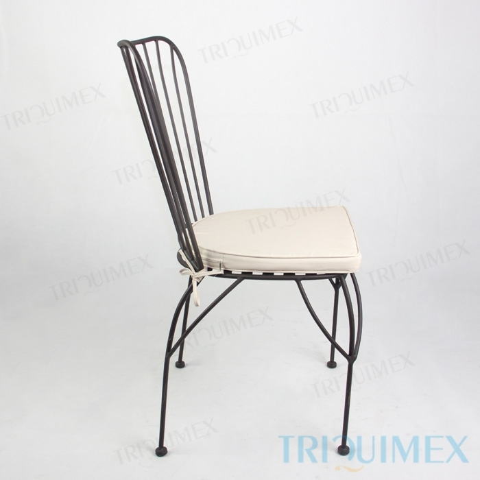 ... Powder Coated Wrought Iron Bistro Chair 3 ...