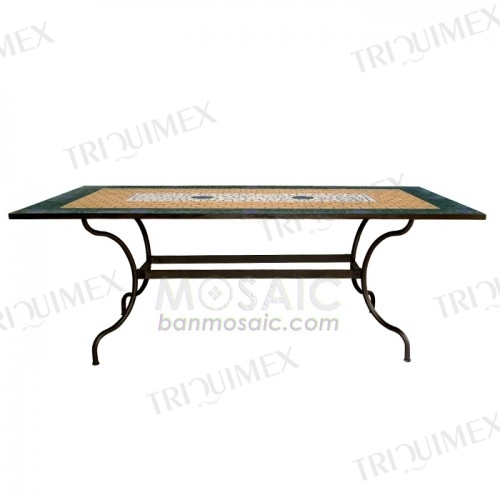 Rectangle Mosaic Top Patio Dining Table