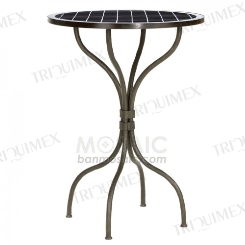 Round Wrought Iron Bar Bistro Table