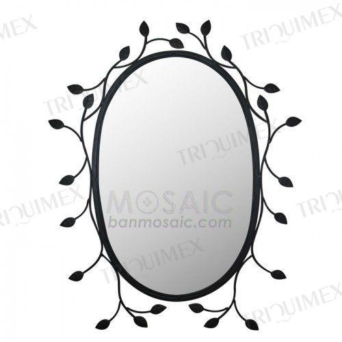 Oval Wrought Iron Mirror Frame