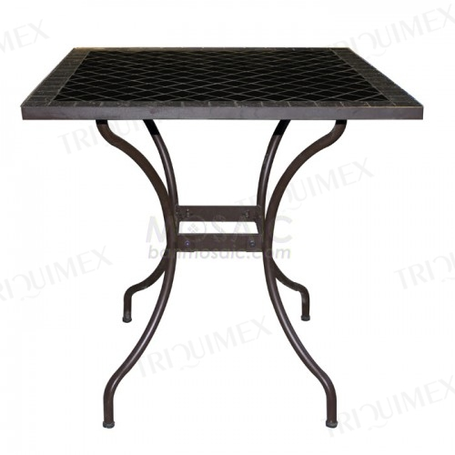 Square Outdoor Table with Mosaic Tiled Top