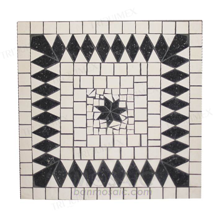 Square Ceramic Mosaic Table Top with Various Dimensions
