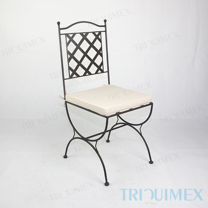 ... Wrought Iron Chair With Lattice Back 14 ...