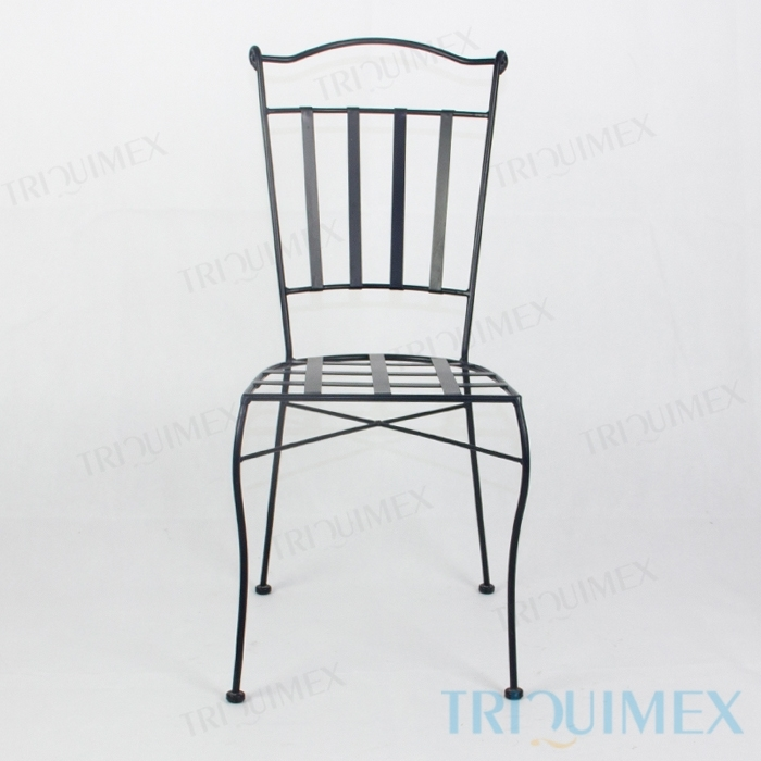 Wrought-Iron-Dining-Chair-Lattice-Seat-1