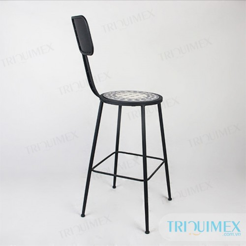 Aesthetic-iron-bar-chair-with-mosatic-seat (2)