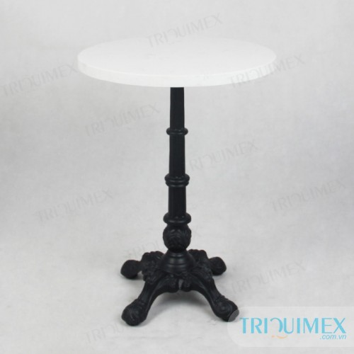 Cast-iron-pedestal-table-with-stone-round-top