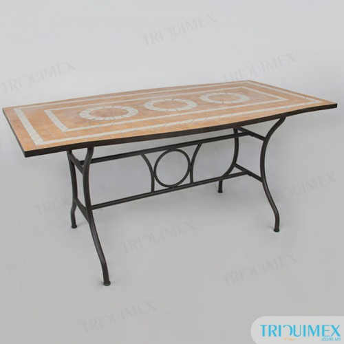 Rectangular-wrought-iron-dining-table-with-mosaic-top (8)