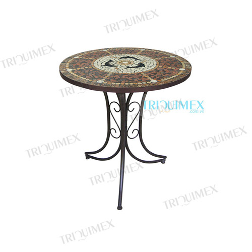 Round-Mosaic-Outdoor-Dining-Table-with-Wrought-Iron-Base (3)