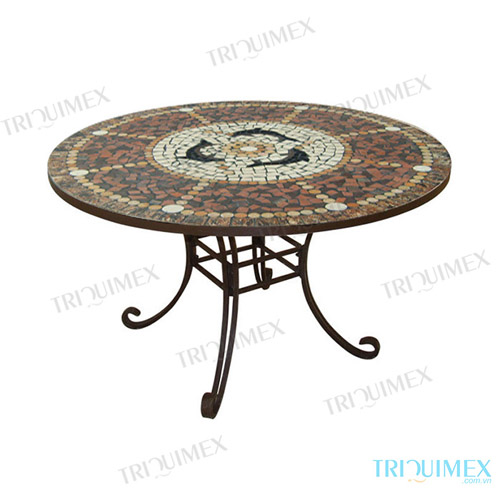 Round-Mosaic-Outdoor-Dining-Table-with-Wrought-Iron-Base