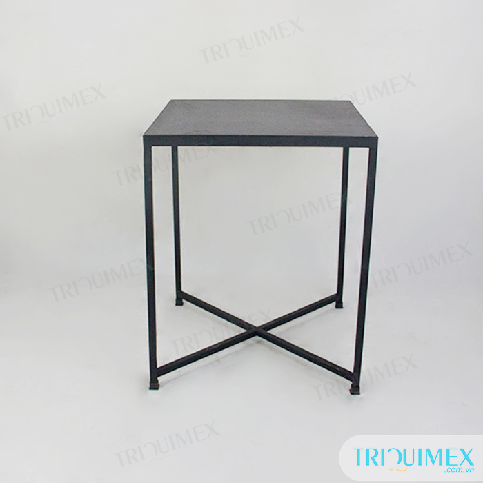 ... Square Stone Coffee Table With Iron Base (2) ...