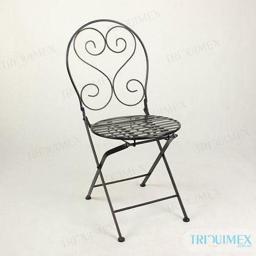 Wrought Iron Folding Chair ...