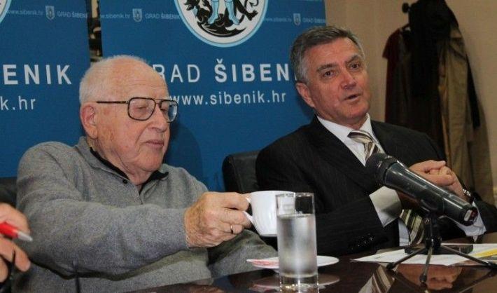 Branko Lustig kod gradonačelnika Šibenika dr. Željka Burića