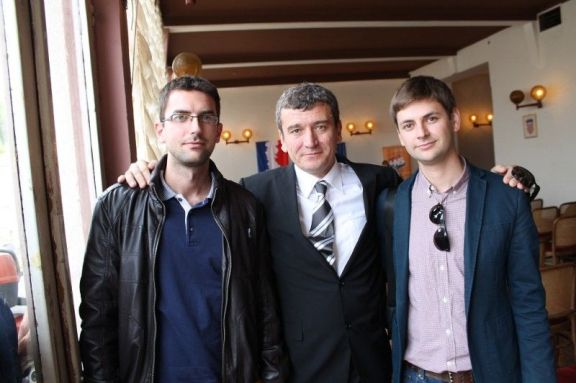 Donačelnik Općine Pirovac Ante Čubrić, saborski zastupnik HNS-a Petar Baranović i Ivan Gulam (Foto Hrvoslav Pavić)