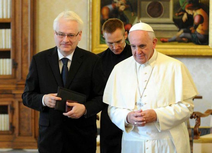 Predsjednik RH Ivo Josipović kod pape Franje
