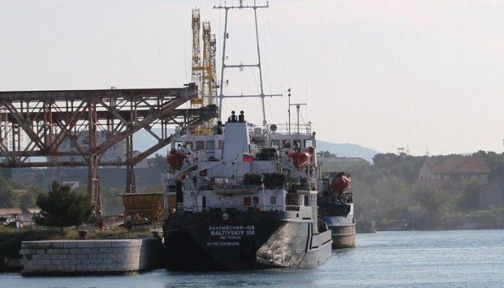 Ruski teretni brod Baltiyskiy 108 u šibnskoj luci