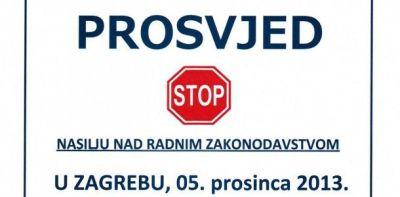 """Prosvjednici Vladi poklonili: čizmu, šibu i """"otkaz""""!"""
