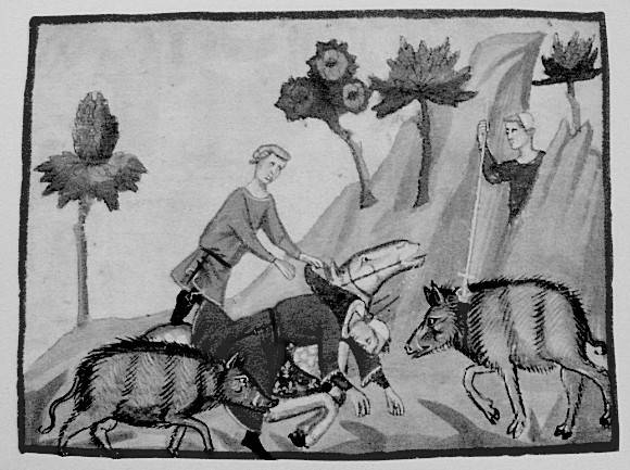'Smrt Filipa IV. u lovu', slika iz 14. stoljeća