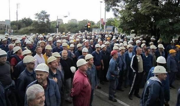 Prosvjed radnika Brodosplita (Foto www.nsb.hr)