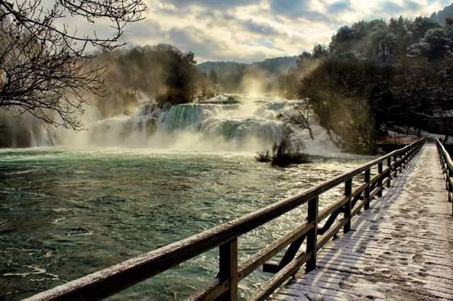 Zima na Krki (foto: NP Krka)