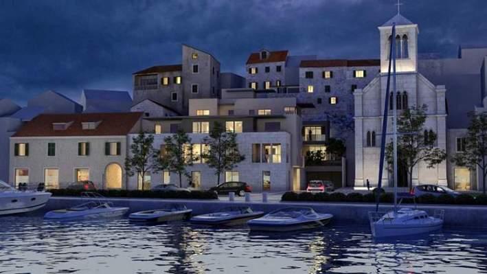 Izgled buduće zgrade prema prvotnim željama investitora Jadran Kapital (http://jadrankapital.hr/peskarijasibenik/)