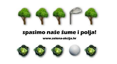 Šume nisu igrališta za golf!