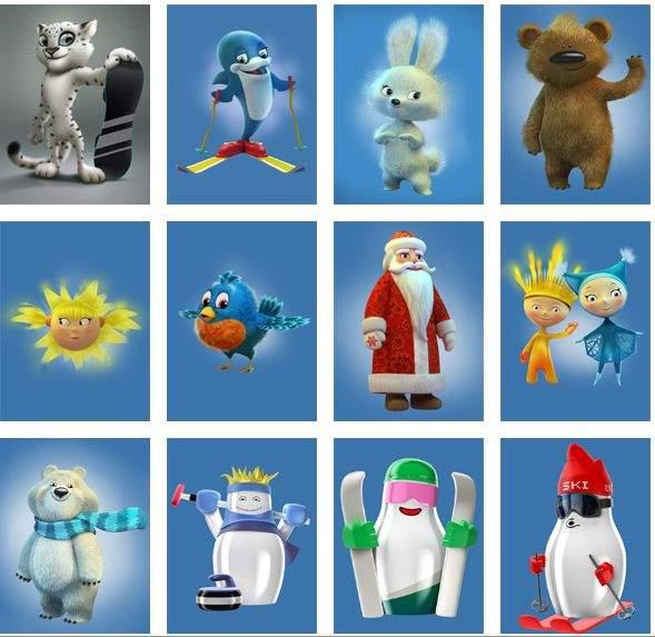 Prijedlozi maskota za nedavne Zimske olimpijske igre u Sočiju