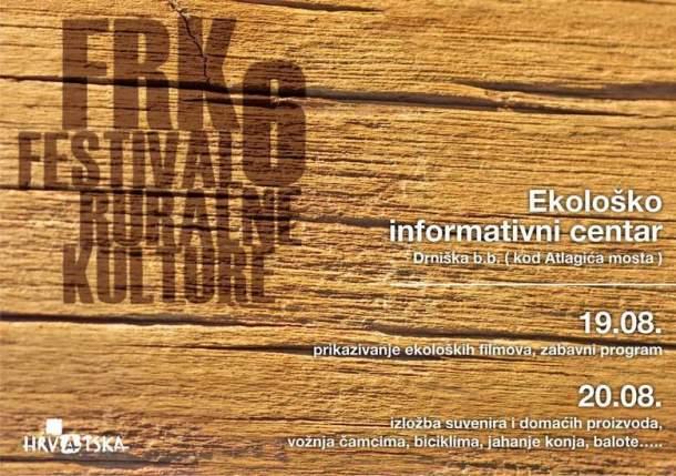 Plakat Festivala ruralne kulture - FRK