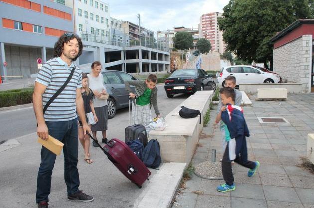 Kod murtersko-šibenskih glazbenika Mateje i Mate Skračića smješteni su Marek, Eldin i Ivan (Foto H. Pavić)