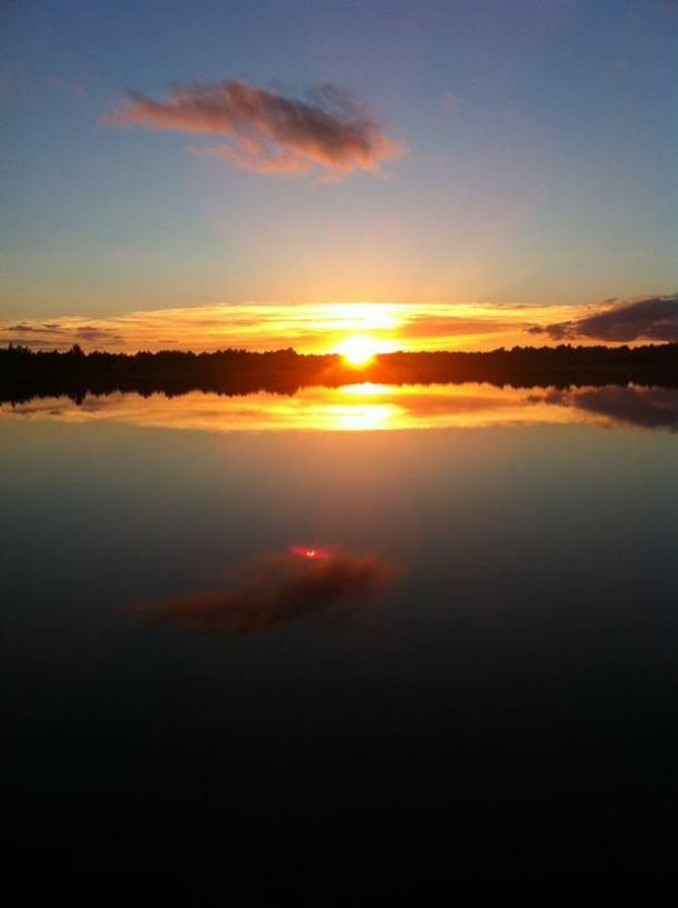 Zalazak sunca u jezeru Mala solina (foto TRIS)