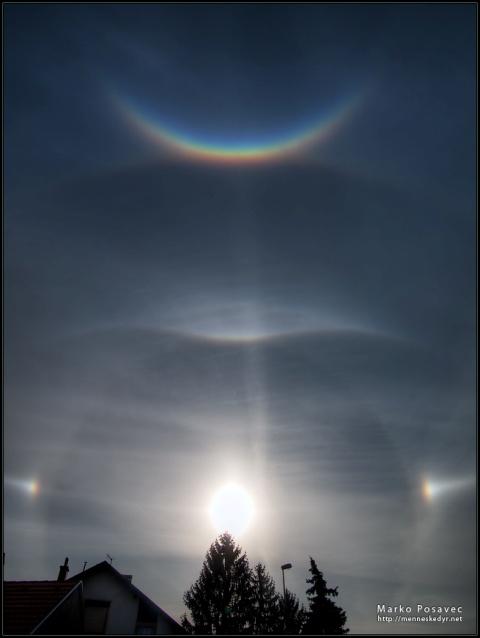 halo i druge optičke pojave, snimio. M. Posavec