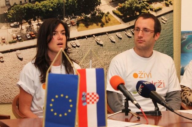 Koordinatorica proijekta Norma Fresl i voditelj projekta Luka Ježina (Foto: H. Pavić)