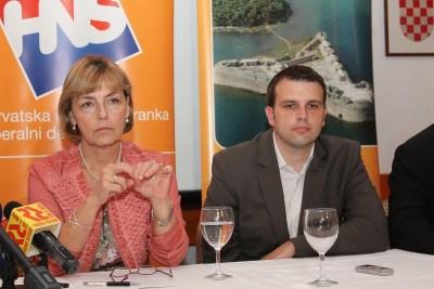 Vesna Pusić u Šibeniku: Izbor Mišure na čelo ŽO HNS-a pokazatelj je katarze u stranci